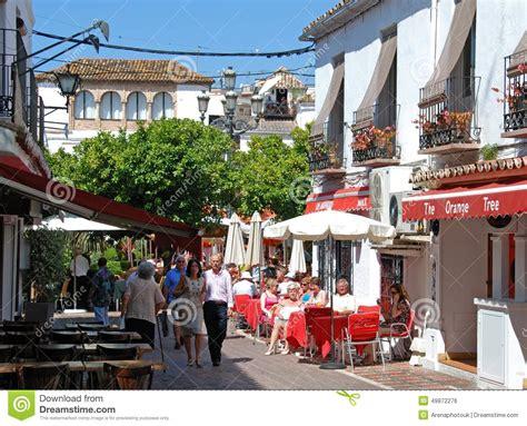 Marbela Square town centre bars marbella editorial photo image 49872276