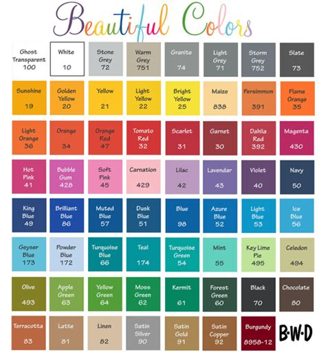pretty color names beautiful colors