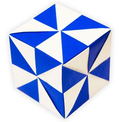 Origami Pinwheel Cube - origami pinwheel unit icosahedron folded by edward
