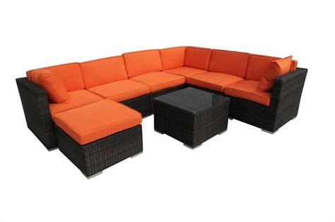 Builddirect Patio Furniture Builddirect Conversation Sets Wicker Sectional Sets Dominica 8 Corner Sectional
