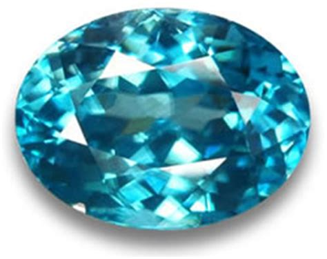 blue zircon gemstones