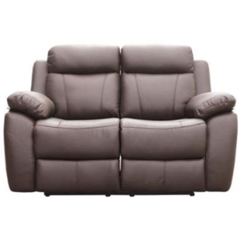 alessia leather sofa furniture link alessia brown leather 2 seater recliner