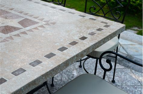 Mosaic Patio Table Top Outdoor Garden 160 200 240cm Mosaic Marble Dining Table Wrought Iron Ta