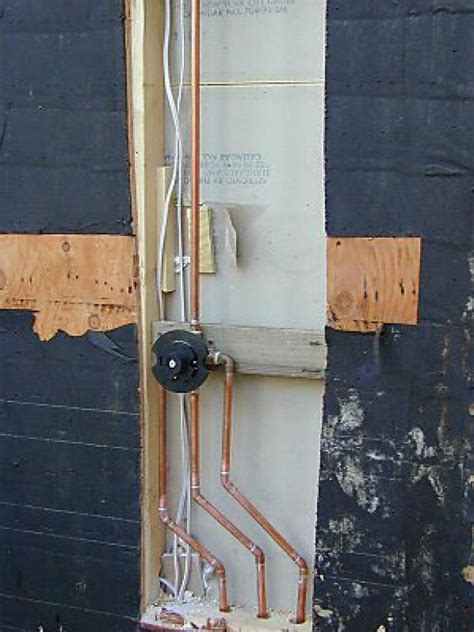 Installing Plumbing For Shower by How To Build An Outdoor Shower How Tos Diy
