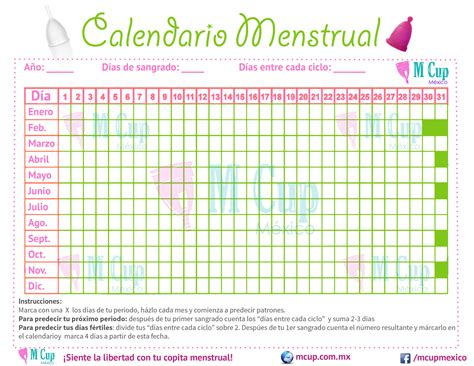 Calendario Menstrual Calendario Menstrual Gratism Cup M 233 Xico M Cup M 233 Xico