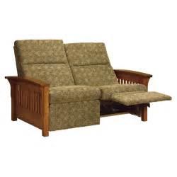 Recliner Sofa Loveseat Skyline Slat Loveseat Recliner Amish Sofas Loveseats Amish Furniture Shipshewana
