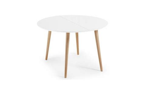 Table Scandinave Ronde by Table 224 Manger Ronde Extensible Lao Blanc