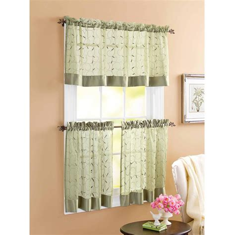 Kitchen Curtains Black And White Black And White Striped Curtain Valance Soozone
