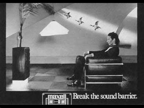 maxell cassette ad maxell cassette commercial the sound barrier