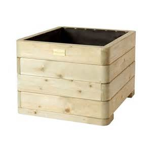 rowlinson marberry square wooden planters wooden garden