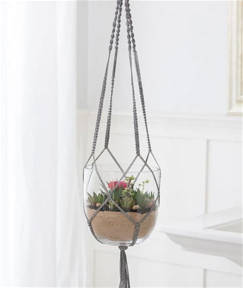 Free Patterns For Macrame Plant Hangers - macram 233 plant hanger