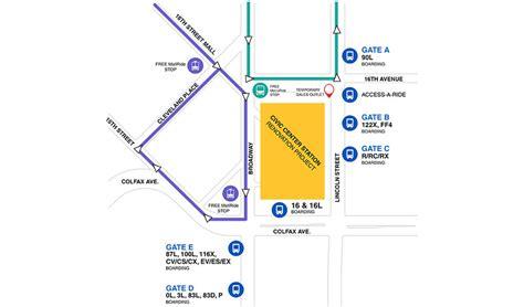 rtd map rtd s denver civic center station renovation begins soon routes to change slideshow