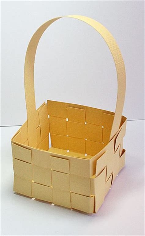 Craft Paper Basket - woven paper basket paper craft style crafts