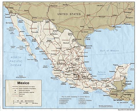 road map mexico large detailed political map of mexico with roads and