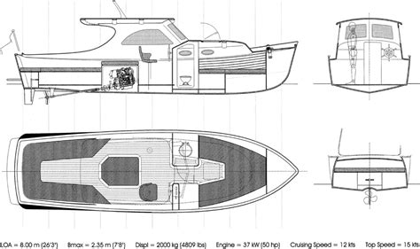 26 planing lobster boat - Lobster Boat Layout
