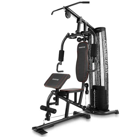 powertrain multi station home with preacher curl bench