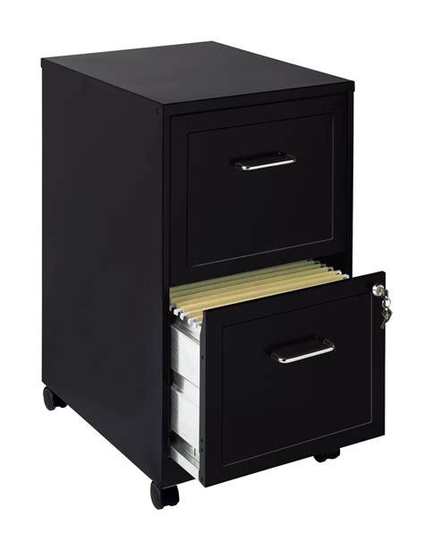 Mobile File Cabinet Commclad 2 Drawer Mobile Filing Cabinet Black