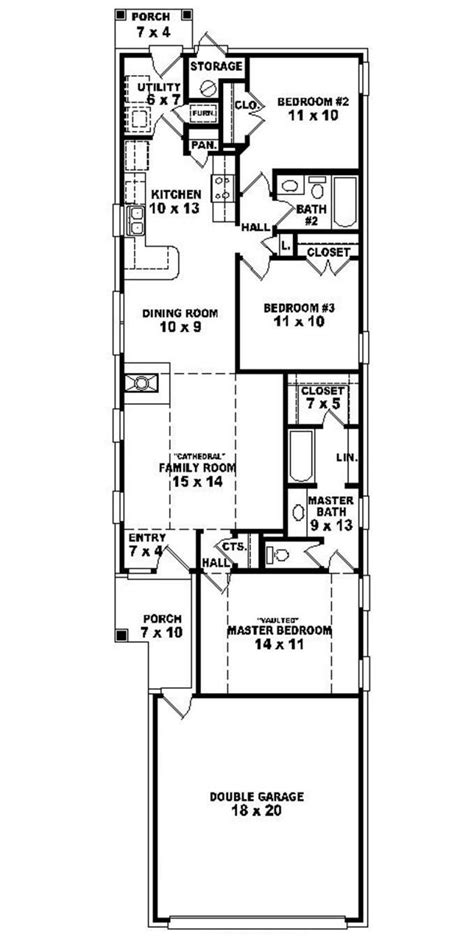 House Plans For Narrow Lot by Best Narrow Lot House Plans Homes Floor Plans