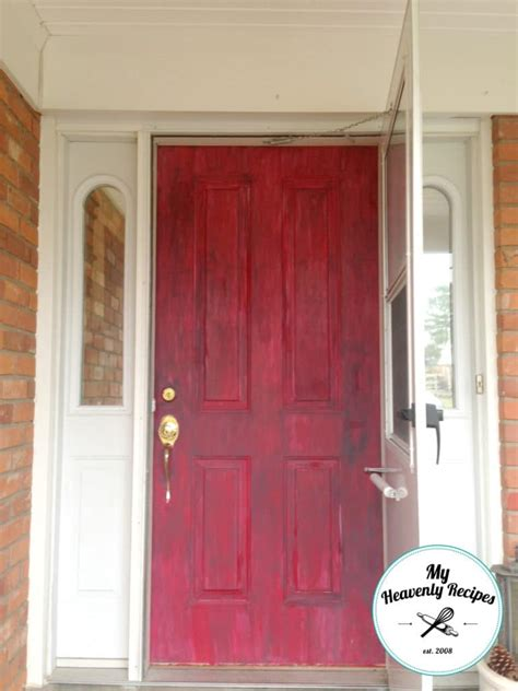 how to paint the front door painted front door with chalk paint my heavenly recipes