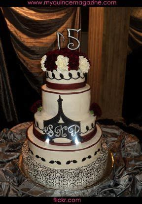 decoracion xv años hollywood paris glamour theme cake quince cakes pinterest
