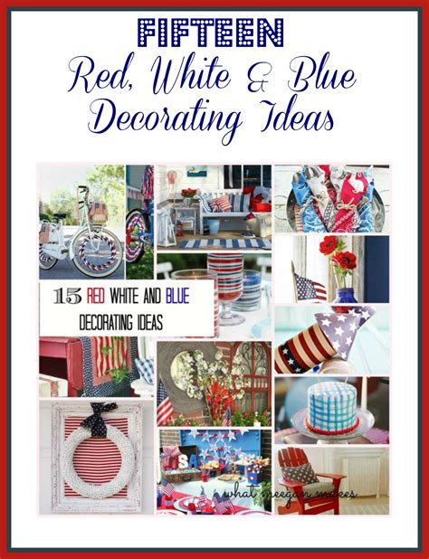 Decorating Ideas Red White Blue White And Blue Decorating Ideas