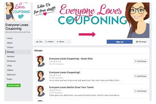 coupon groups on facebook