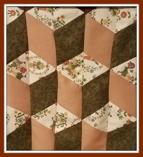 tumbling block quilt pattern   quilt instructions