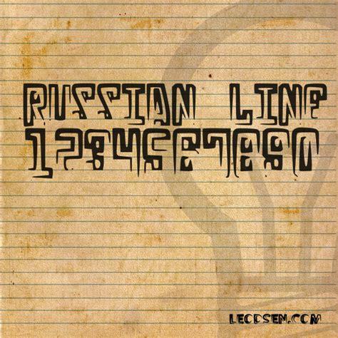 dafont russian russian line dafont com