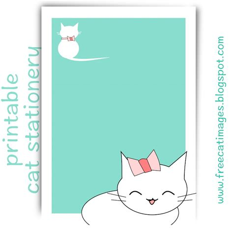 printable cat stationery free cat images free printable cat stationery kawaii