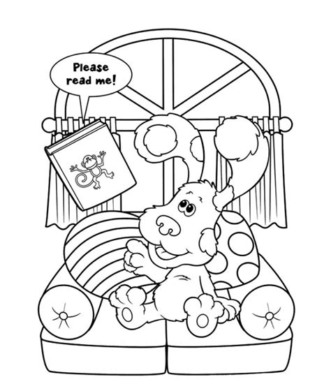 coloring ws free printable blues clues coloring pages for