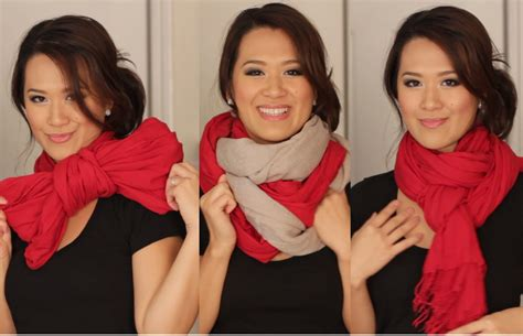 7 Scarf Styles For Fall by Scarf Tying Ideas 6 Ways To Wear Your Scarves