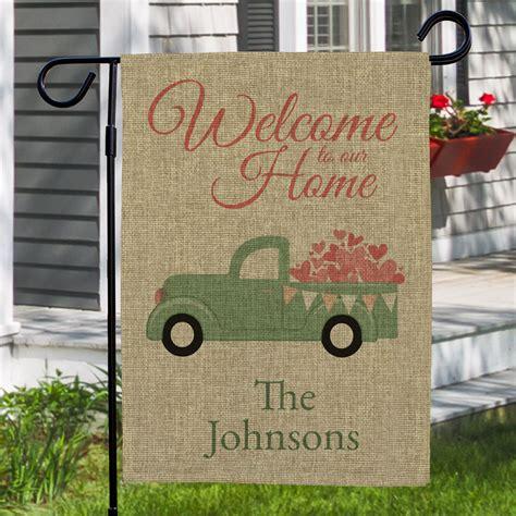 personalized    home burlap garden flag