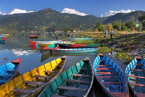PHOTO: Wooden boats on Phewa Lake in Pokhara, Nepal