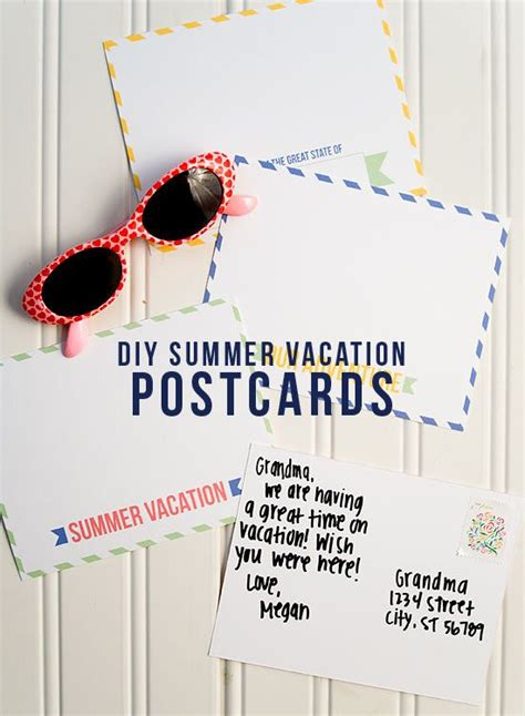 diy printable postcards free diy summer vacation postcard printables 24 7 moms
