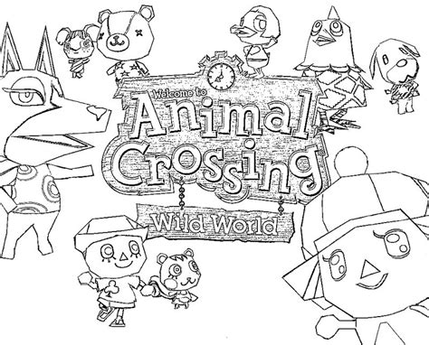 coloring pages of animal crossing new leaf coloriage animal crossing 1