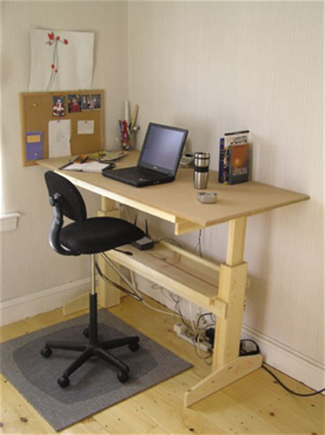 adjustable sit stand desk  ways  build guide patterns