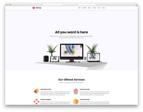 25 Best Free Simple Website Templates For All Famous Niches 2018 Simple Website Design Template
