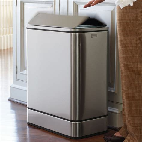 Trash Cans Kitchen by Simplehuman Yellowfly Sensor Trash Can Traditional