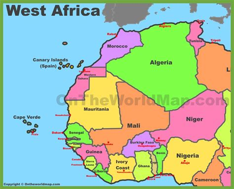 map of the west map of west africa
