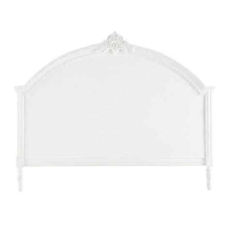 tete de lit blanche 2297 t 234 te de lit en manguier blanche l 160 cm m 233 dicis maisons