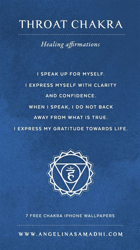 Symptoms Of Detoxing Unblocking Throat Chakra by Throat Chakra Healing Affirmations Chakra Affirmations