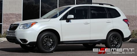 white subaru forester black rims subaru wheels custom and tire packages