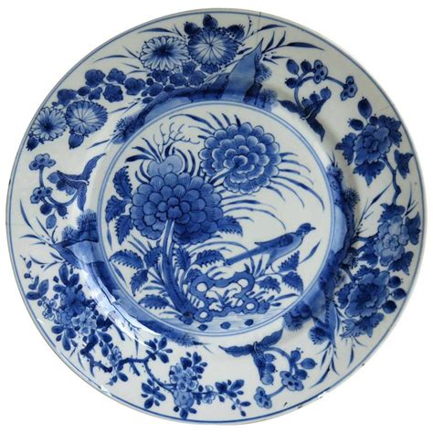 blue and white porcelain chinese porcelain plate blue and white kangxi period