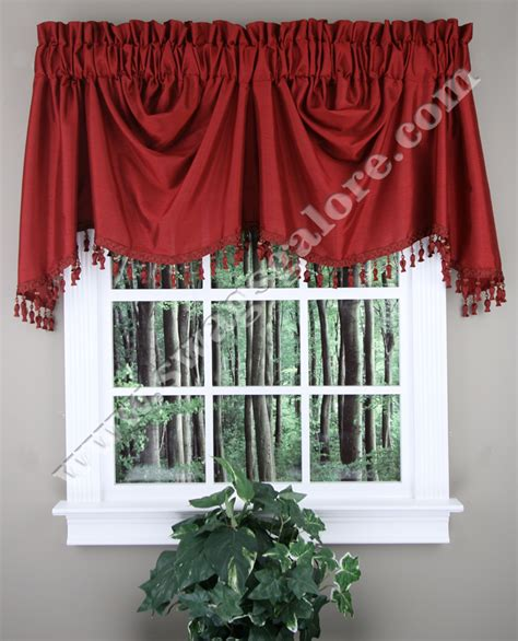Burgundy Kitchen Valances Austrian Valance Faux Silk Burgundy United