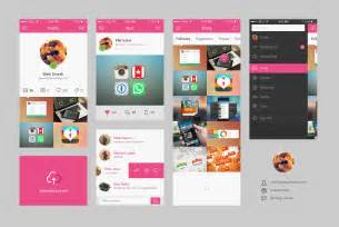dribbble app concept psd graphicburger