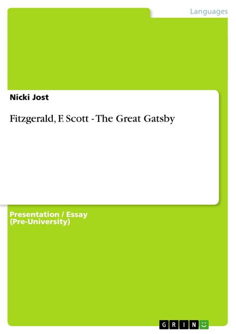 setting symbolism in the great gatsby developing assignment discipline university survival the