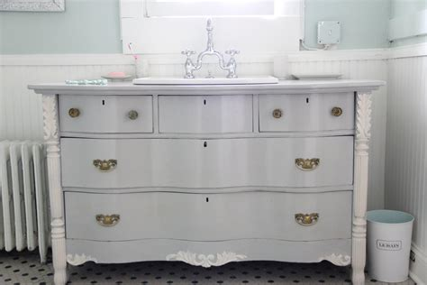 old dresser as bathroom vanity monday makeover bowfront dresser made into master