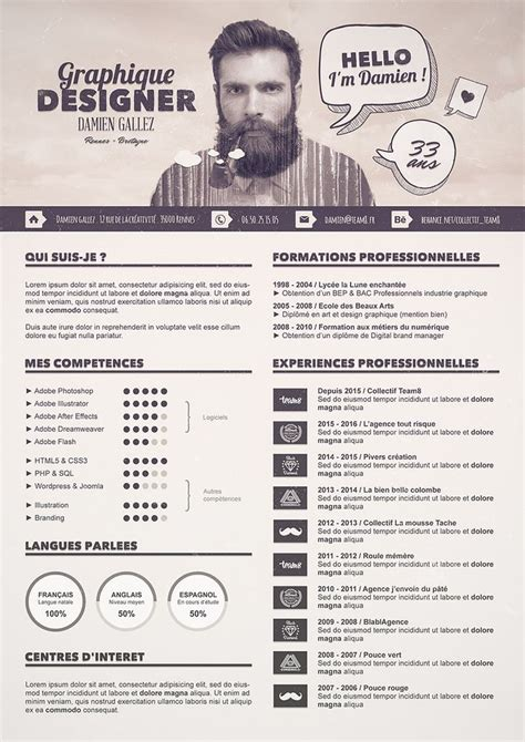 design cv photoshop 1221 best infographic visual resumes images on pinterest