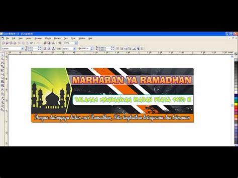 cara membuat x banner corel cara membuat banner dengan corel draw x2 youtube