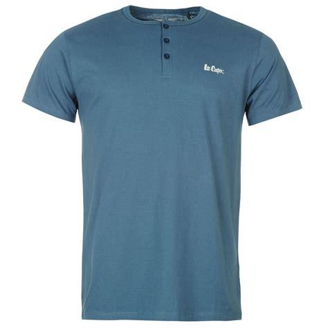 T Shirt Sleeve 3 cooper mens essential 3 button t shirt henley neck sleeve top ebay